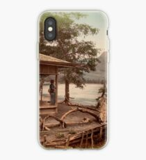 Haruna Lake tea house iPhone Case