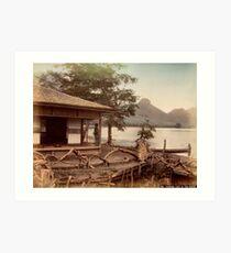 Haruna Lake tea house Art Print