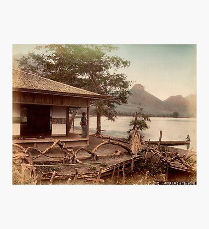 Haruna Lake tea house Photographic Print