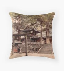 Bronze portal, Nikko Throw Pillow