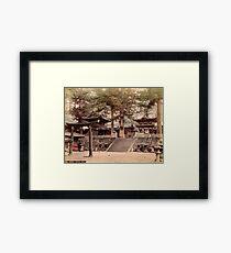 Bronze portal, Nikko Framed Print