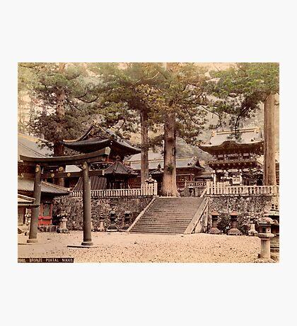 Bronze portal, Nikko Photographic Print