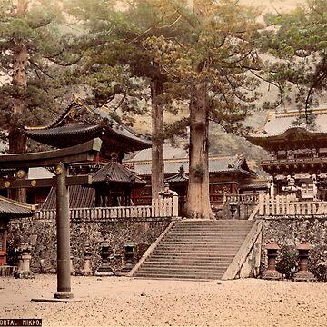Bronze portal, Nikko by Fletchsan