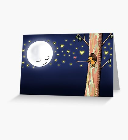 Cute Ringo Possum Love Heart Catching Greeting Card