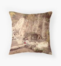 Tamadare waterfall at Yumoto, Japan Throw Pillow