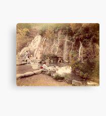 Tamadare waterfall at Yumoto, Japan Canvas Print