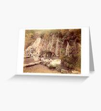 Tamadare waterfall at Yumoto, Japan Greeting Card