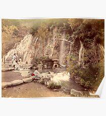 Tamadare waterfall at Yumoto, Japan Poster