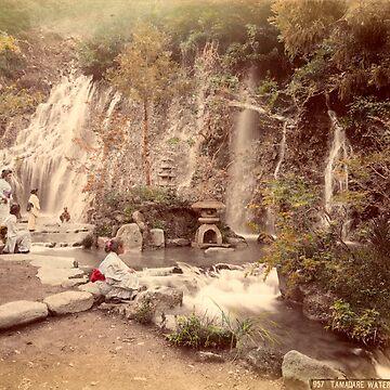 Tamadare waterfall at Yumoto, Japan by Fletchsan