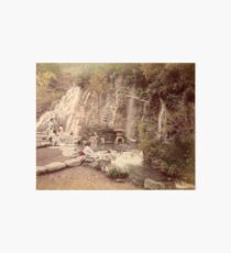 Tamadare waterfall at Yumoto, Japan Art Board