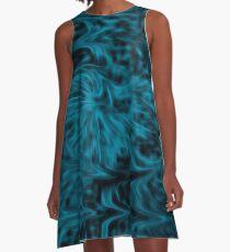 Blue Fire A-Line Dress