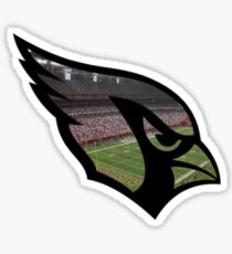 Cardinals Logo (w/ Football Game Background) Sticker