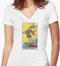 Tarot card - The Fool Women's Fitted V-Neck T-Shirt
