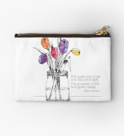 Picasso Quote, Tulips Studio Pouch