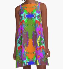ABSTRACT GRAPHIC PRINT { BIG COUNTRY} BY JANE HOLLOWAY A-Line Dress