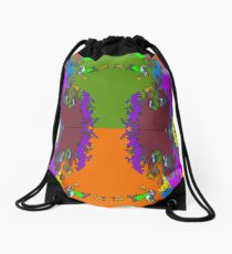ABSTRACT GRAPHIC PRINT { BIG COUNTRY} BY JANE HOLLOWAY Drawstring Bag