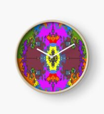 ABSTRACT GRAPHIC PRINT { BIG COUNTRY} BY JANE HOLLOWAY Clock