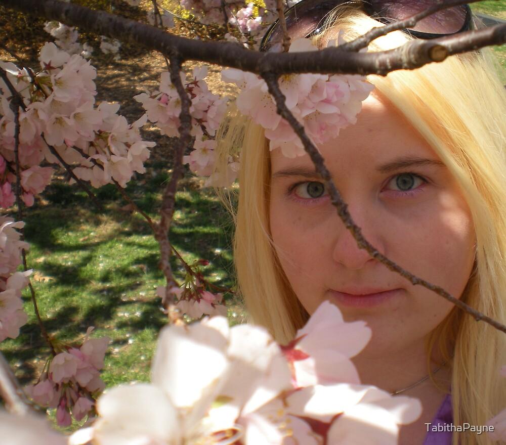 Cherry Blossom Self-Portrait by TabithaPayne