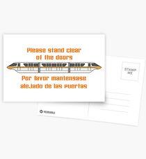 Veuillez vous tenir à l'écart des portes Cartes postales