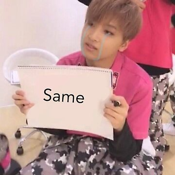 "NCT Haechan ""same"" meme by mapao"