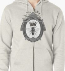Queen Bee | Black, White and Grey  Zipped Hoodie