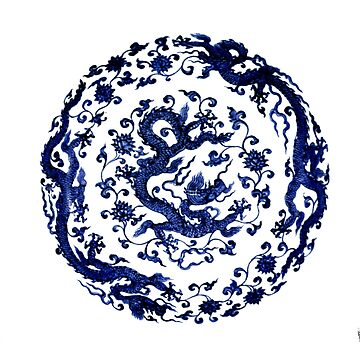 Antique China Dragon style by funprints