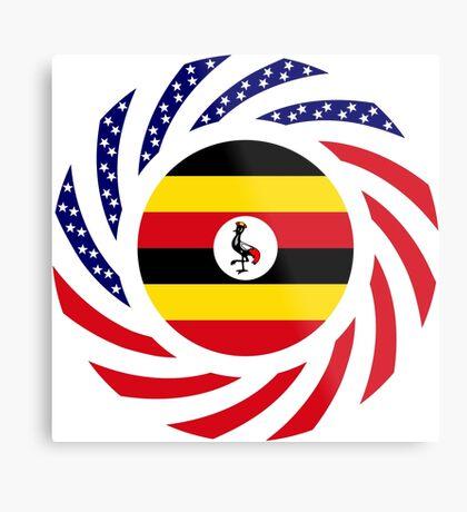 Ugandan American Multinational Patriot Flag Series Metal Print