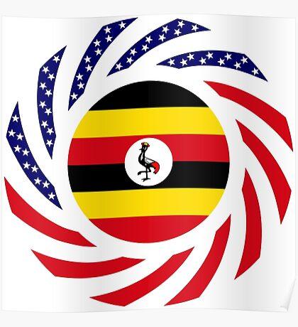 Ugandan American Multinational Patriot Flag Series Poster