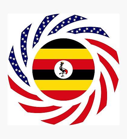 Ugandan American Multinational Patriot Flag Series Photographic Print