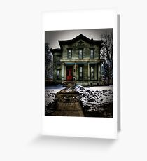 """""""House on Haunted Hill"""" Greeting Card"""