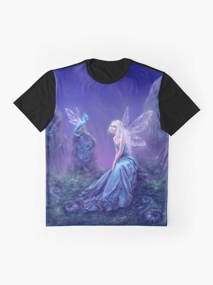 Vista alternativa de Camiseta gráfica Hada luminiscente y arte del dragón