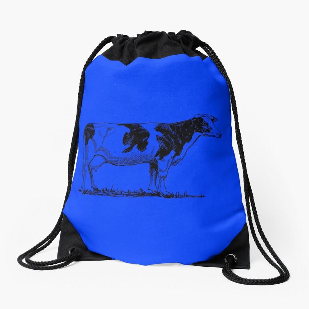 Madam cow Drawstring Bag Front