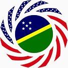 Solomon Islander American Multinational Patriot Flag Series by Carbon-Fibre Media