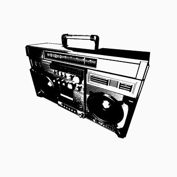 Old skool boom box by njlvisualartist