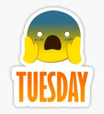 funny tuesday emoji design for shirt and more Sticker
