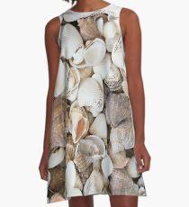 Seashells background pattern A-Line Dress