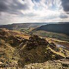 Alport Castles Landscape by Angie Morton