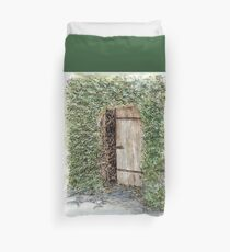 Secret door - Hahndorf, SA, Australia Duvet Cover