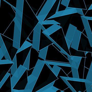 3D Broken Glass III by tamaya111