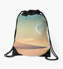 Mond über der Wüste Rucksackbeutel
