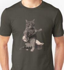 Cat Playing Banjo Guitar Unisex T-Shirt