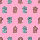 Woof - The Sheep Dog Pattern in Pink by Shelly Still