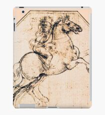 DRAWING OF A HORSE RIDER IN PALE PINK Leonardo da Vinci iPad Case/Skin