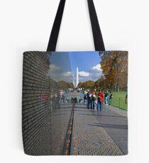 Wall of reflection Tote Bag