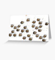 Hummeln - Hummelschwarm - Bienen- Muster- Hummel-Muster Grußkarte