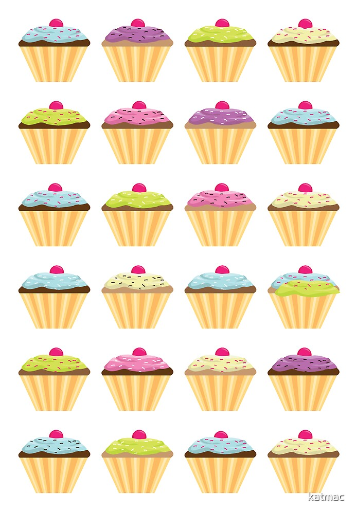 Cupcakes card by katmac