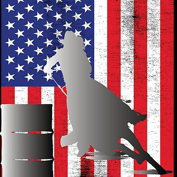 Barrel Racer USA Flag Design by kudostees