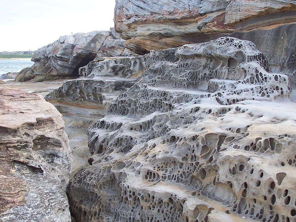 Rock Formation, Mahon Ocean Pool, North Maroubra, N.S.W., Australia by dtomw
