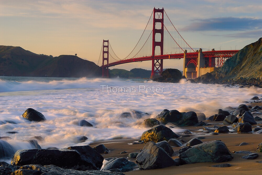 Golden Gate Sunset by Thomas Peter