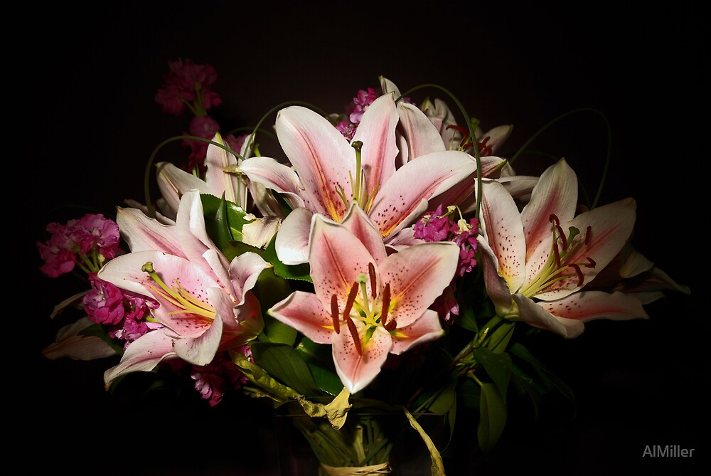 Flowers By Torch light by AlMiller